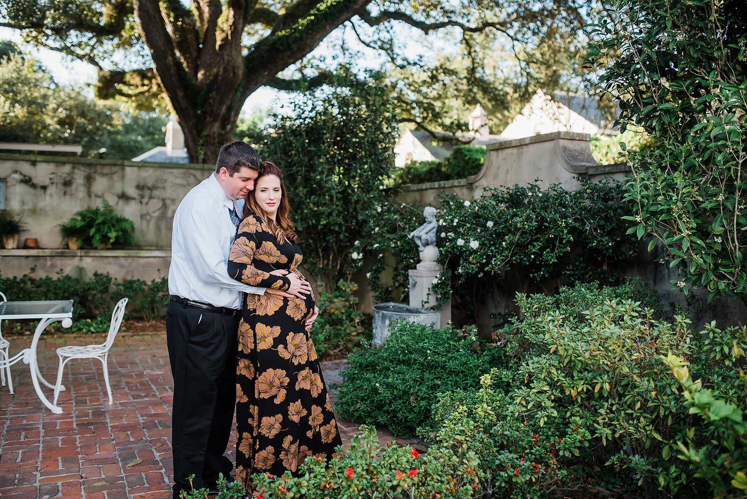 Longue Vue Gardens Maternity Session   Leigh & Edward