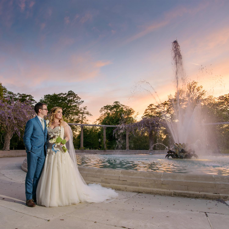Popps Fountain Arbor Room City Park Wedding Photographs | Amy & Lowry