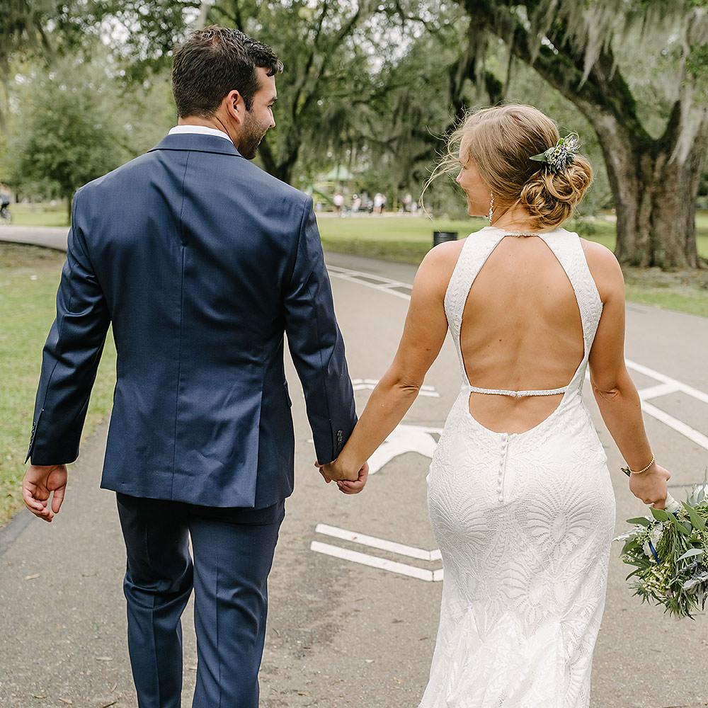 Audubon Park Meditation gardens Micro Wedding | Mari & Layton